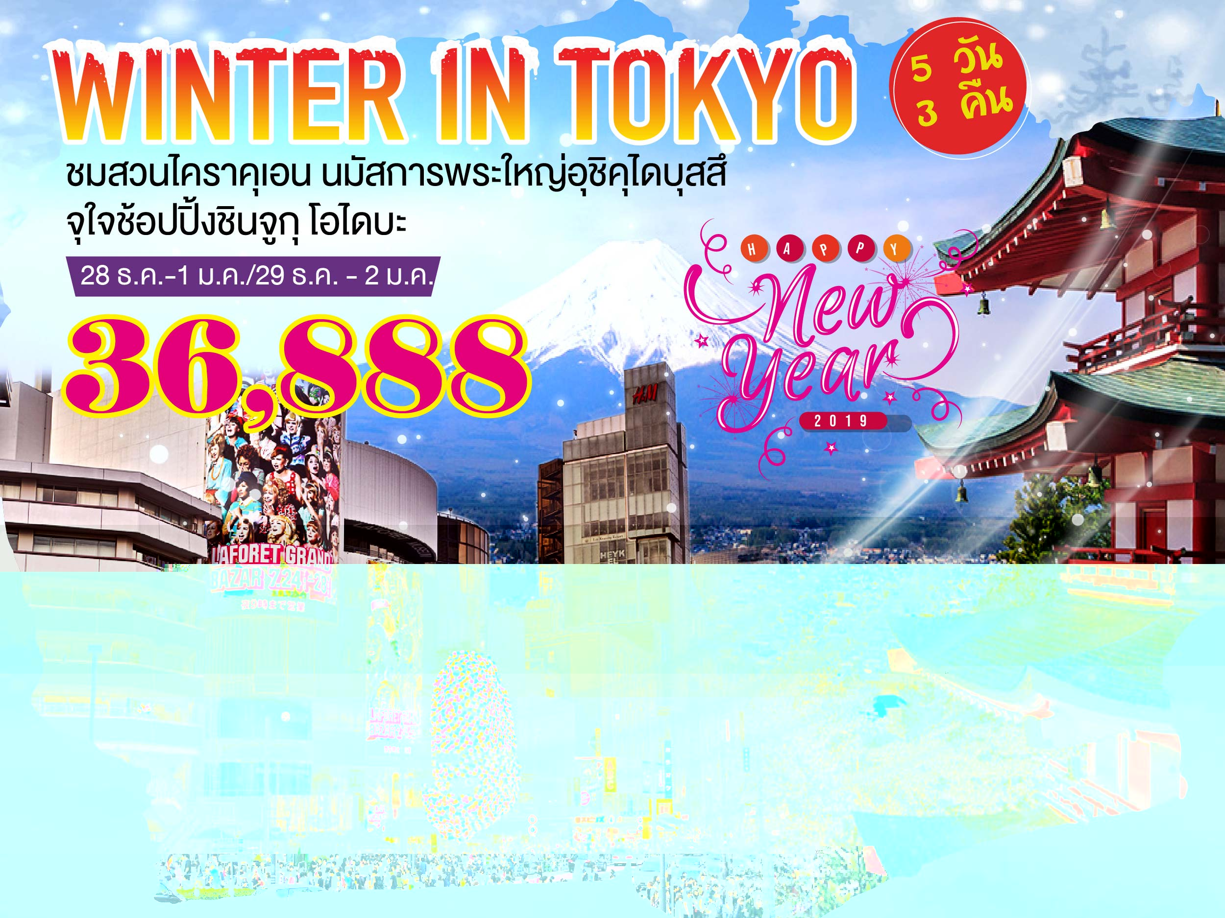 WINTER IN TOKYO 5 วัน 3 คืน