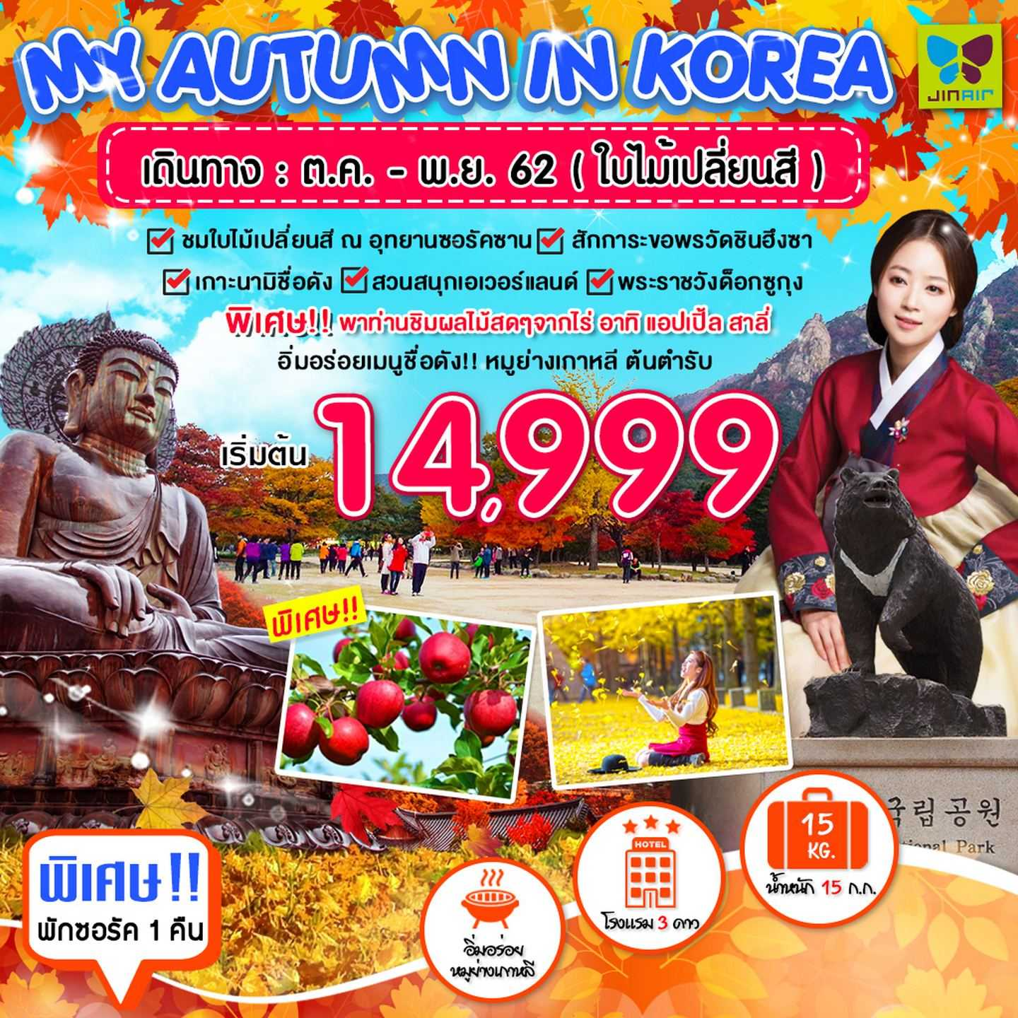 MY AUTMN IN KOREA 5D 3N